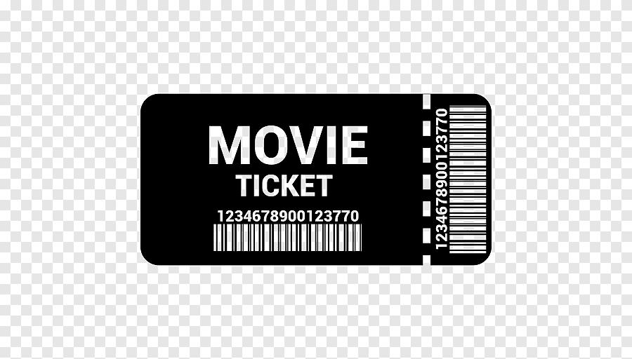 cinema ticket film tickets label