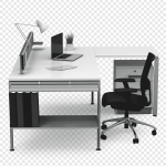 Black And Silver Laptop Computer Office Desk Chairs Office Desk Chairs Office Supplies Office Desk Angle Furniture Png Pngegg