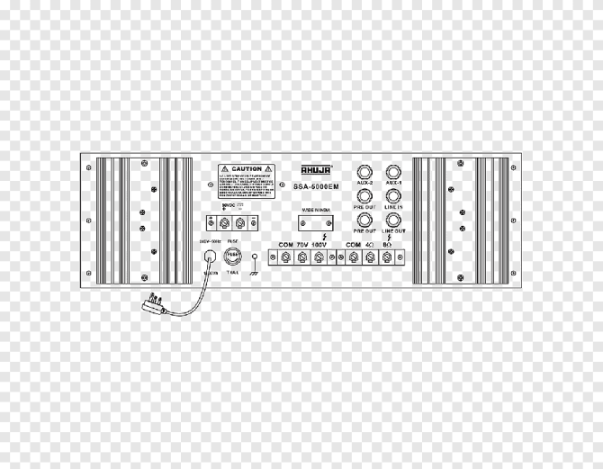 audio power amplifier public address systems wiring diagram