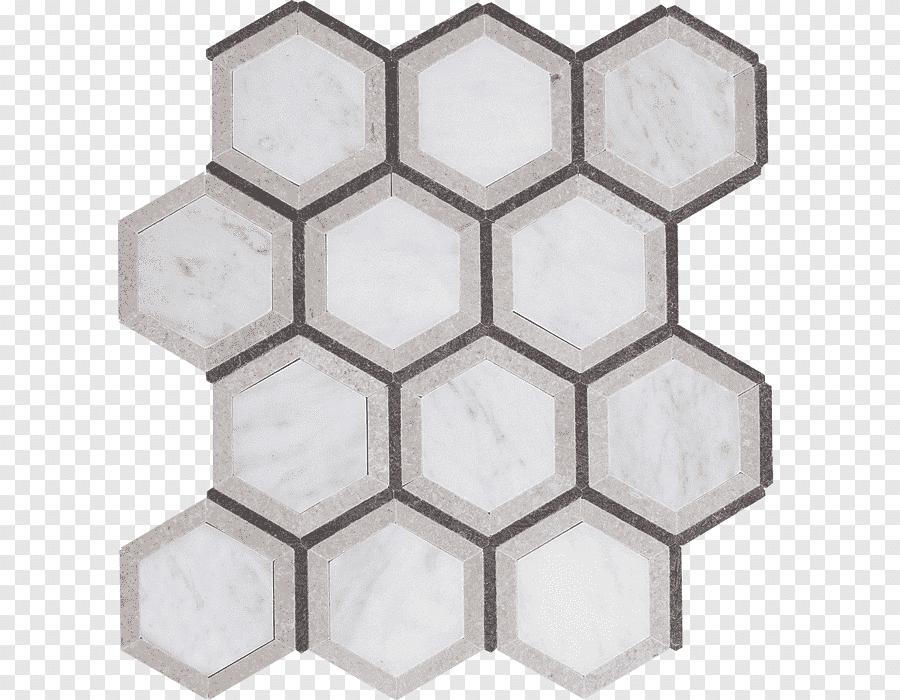 Abeille En Nid D Abeille Hexagonale En Marbre De Carrare Carrelage En Pierre Angle Salle De Bains Png Pngegg