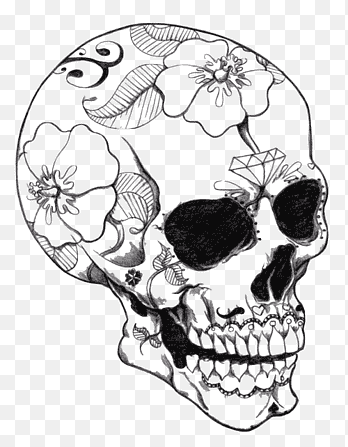 Calavera Coloring Book Skull Coloring Pages For Adults Skull Celebrities Child Png Pngegg