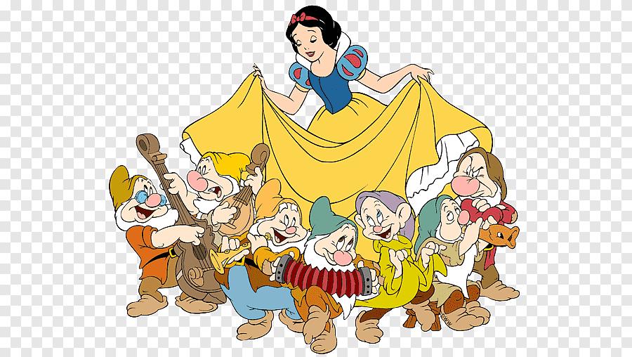 Snow White And The 7 Dwarfs Illustration Snow White Seven Dwarfs Bashful Grumpy Snow White And The Seven Dwarfs Seven Dwarfs Cartoons Png Pngegg