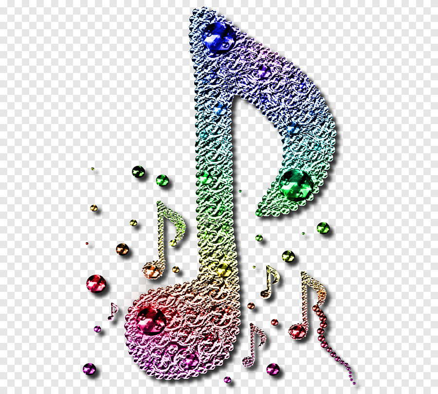 musical note couleur peinture png