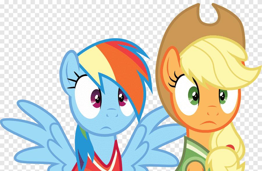 Applejack Rainbow Dash Pony Pinkie Pie Horse Dasbor Pelangi Terkejut Png Pngegg