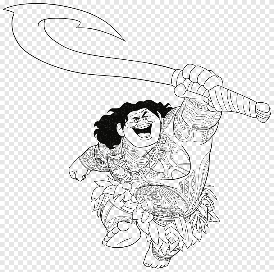 Moana Coloring Book Colouring Pages The Walt Disney Company Maui Flores Moana Child Face Png Pngegg