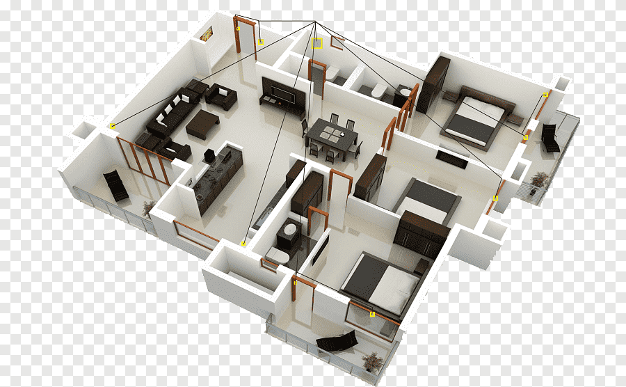 Show all the changing dimensions if possible. House Plan Interior Design Services Sweet Home 3d 3d Floor Plan Design 3d Computer Graphics Building Png Pngegg