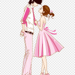 Man And Woman Looking At Each Illustration Valentines Day Couple Romance Love Cartoon Creative Cartoon Couple Cartoon Character People Png Pngegg