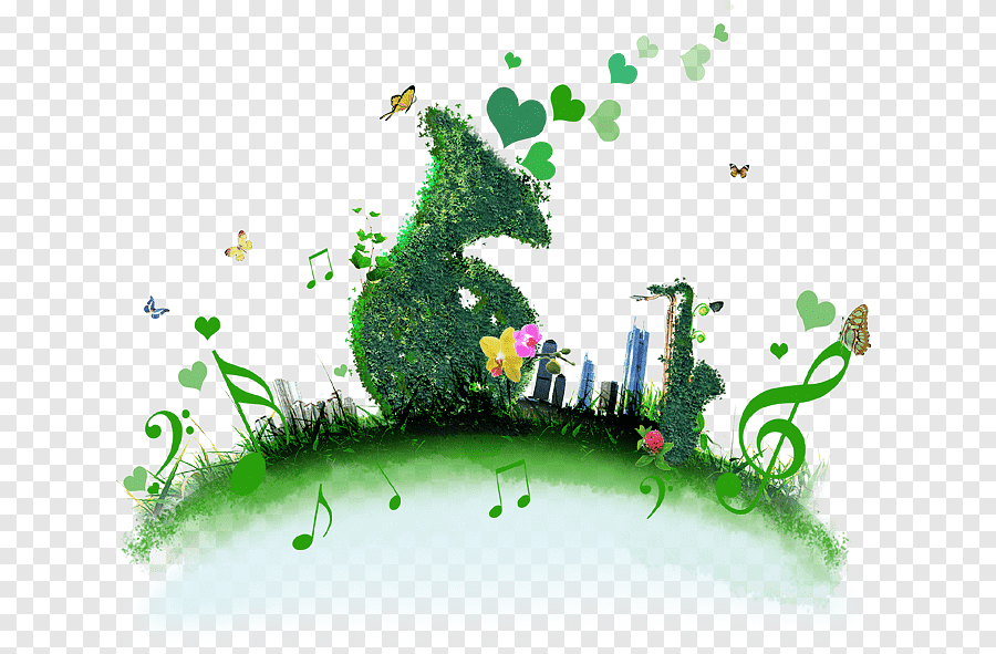 Poster Energy Conservation Environmental Protection Green Musical Elements Leaf Building Png Pngegg