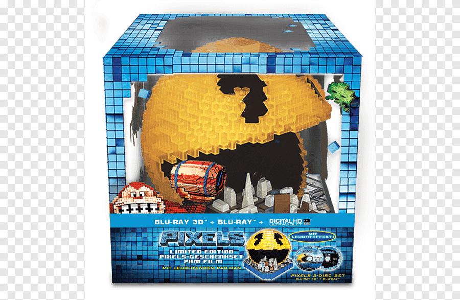 Disk Blu Ray Pac Man Ultra Hd Film 3d Blu Ray Pixel Pac Man Televisi Grafik Komputer 3d Png Pngegg