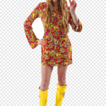 1960s Costume Party Hippie Flower Power Hippies Child Halloween Costume Png Pngegg