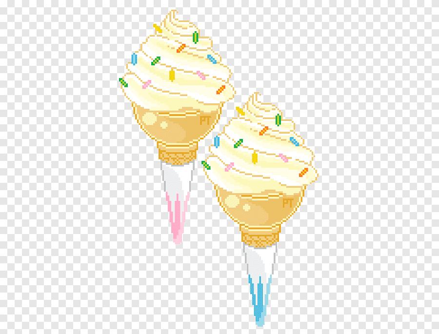 sundae ice cream pixel art dessin