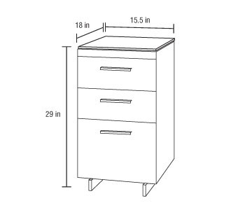 BDI Sequel 3 Drawer Cabinet 6014 The Century House