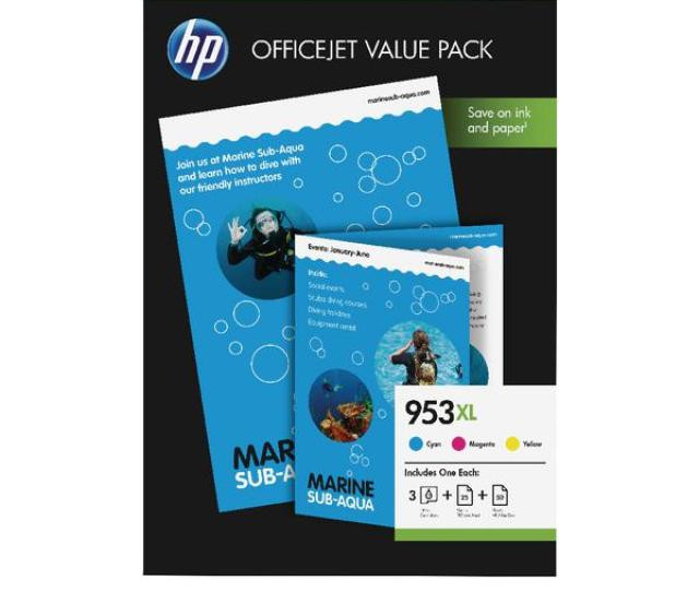 Hp 953xl Cmy Ink Cartridge Office Value Pack