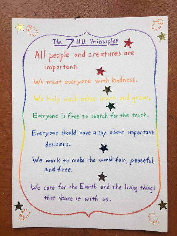 Personalized list of the 7 Principles by the Funderburks