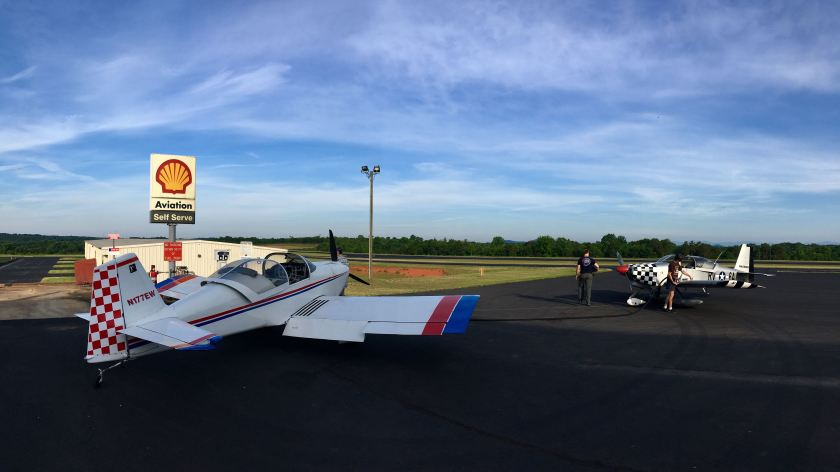 Departure fuel stop at KLQK (Pickens, SC)