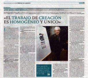 2014-03-29 - La Tribuna - Entrevista a Cruz Novillo