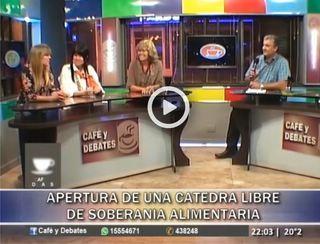 """CÁTEDRA LIBRE DE SOBERANÍA ALIMENTARIA ENTREVISTA EN EL PROGRAMA """"CAFÉ Y DEBATES"""""""