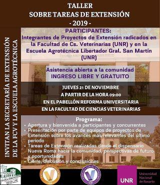 TALLER SOBRE TAREAS DE EXTENSIÓN - 2019