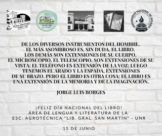 15 DE JUNIO, DÍA NACIONAL DEL LIBRO