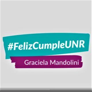 SALUDOS DE LA DIRECTORA GRACIELA MANDOLINI CON MOTIVO DEL 52° ANIVERSARIO DE LA UNIVERSIDAD NACIONAL DE ROSARIO. 1968 - 29 DE NOVIEMBRE - 2020