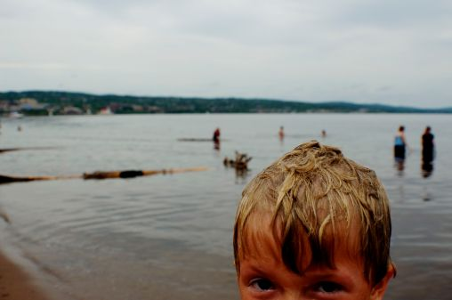 down in Duluth the water is warm enough to swim in, so the kids said