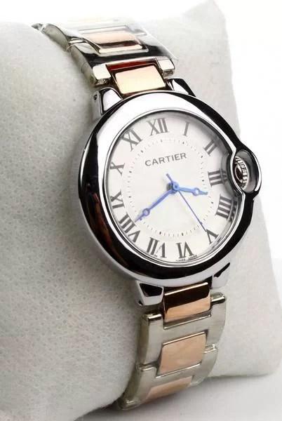 Montre Cartier Haute qualité Ballon bleu argenté doré Bronze