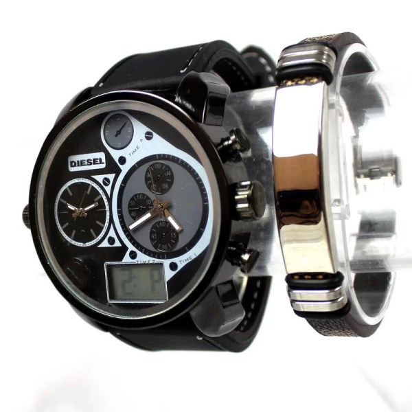 Montre Diesel 2 Moteurs et Digital avec Bracelet CadeauMaroc