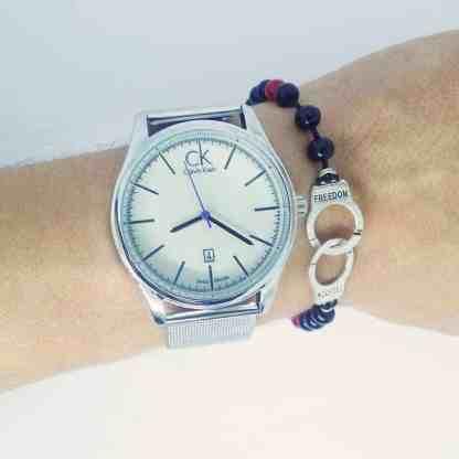 Montre Calvin Klein Argneté avec Bracelet Menotte