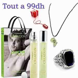 Parfum Importé de Turquie avec Collier Afrique et Bague