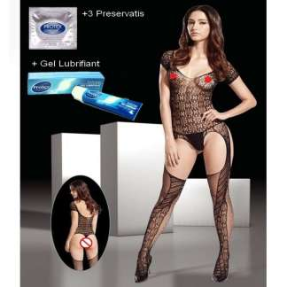 Short-Sleeve-Circle-Pattern-Mesh-Bodystocking-8921