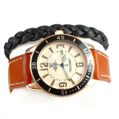 Rolex Oyster Perpetual Datejust Homme - Marron