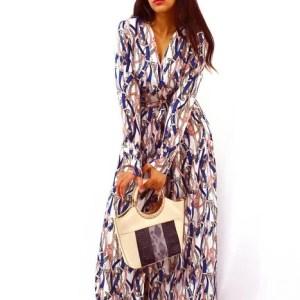 Robe Longue Chic Imprimé Chaines