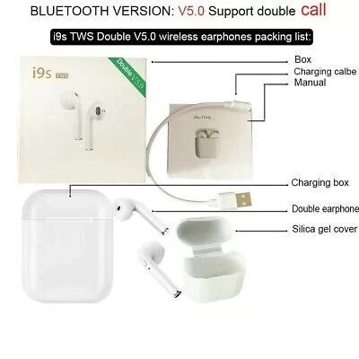I9S-TWS-double-V50-sans-fil-écouteurs-soutenir