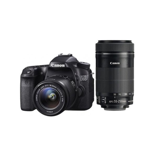 vente CANON EOS 70D + Objectif EF-S 55 250mm 1 : 4-5.6 IS Bonne Occasion Maroc
