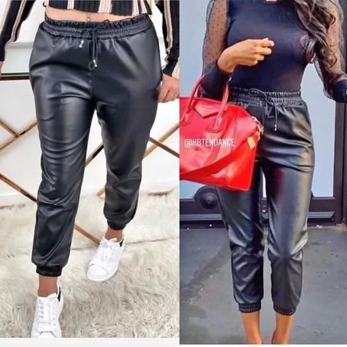Pantalon simili cuire promotion maroc solde vente promotion Faux cuire casablanca