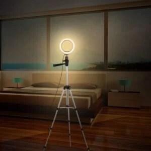 Ring Light Anneau Bague lumineux LED Diametre 33cm+ Trepied 1m05 achat