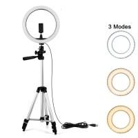 Ring Light Anneau Bague lumineux LED Diametre 33cm+ Trepied 1m05
