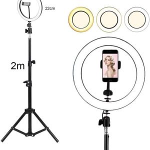 ring light professionel 22cm et trepied 2 metre maroc solde