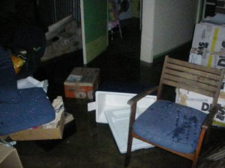 All our belongings flooded
