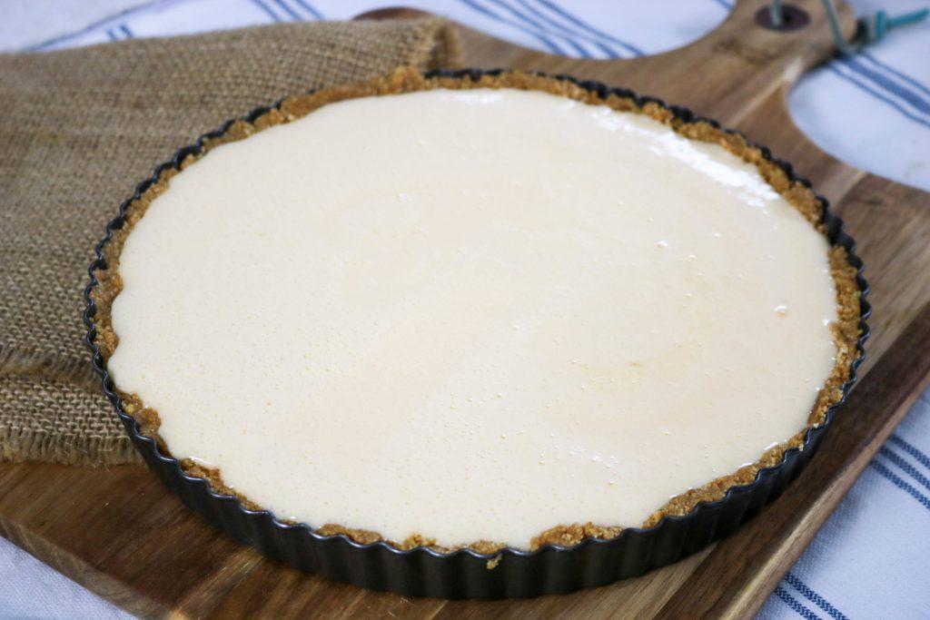 Pour Contents Into Pie Crust