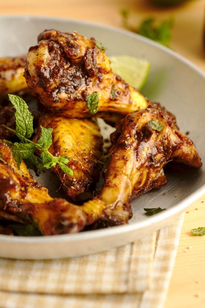 Caribbean Mole Baked Chicken Wings 2