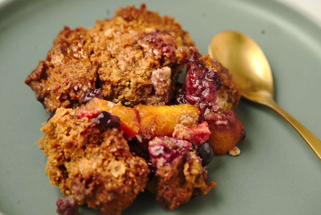 Peach Cobbler With Blueberry Biscuits v1