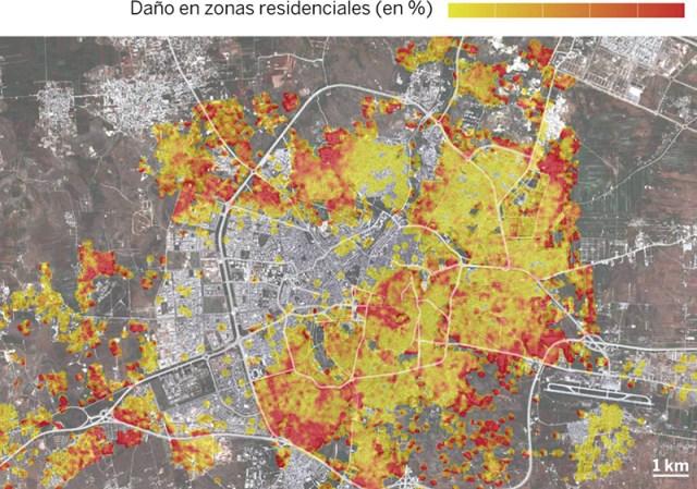 Vista satelite de Alepo