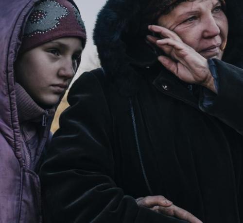 civiles en Ucrania Donbass