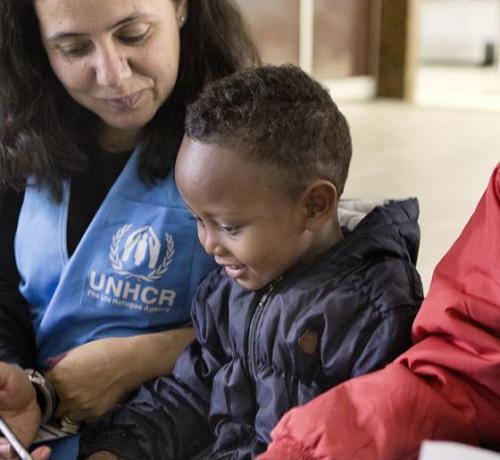 Refugiados evacuados de Libia