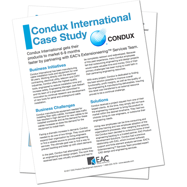 Condux International Case Study | EAC Product Development Solutions