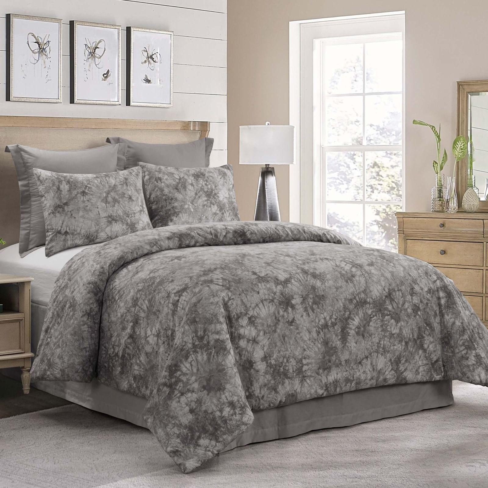 queen comforter set granada grey