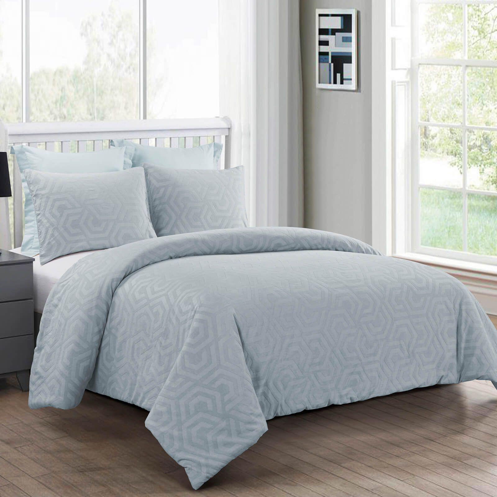 queen comforter set seville soft blue