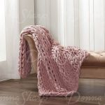 Donna Sharp S Your Lifestyle Chenille Chunky Knit Throw Blanket Blush