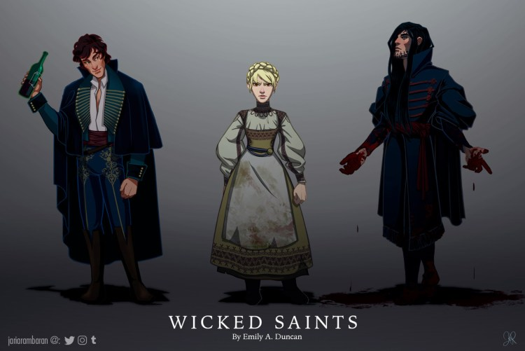 Wicked Saints character line up